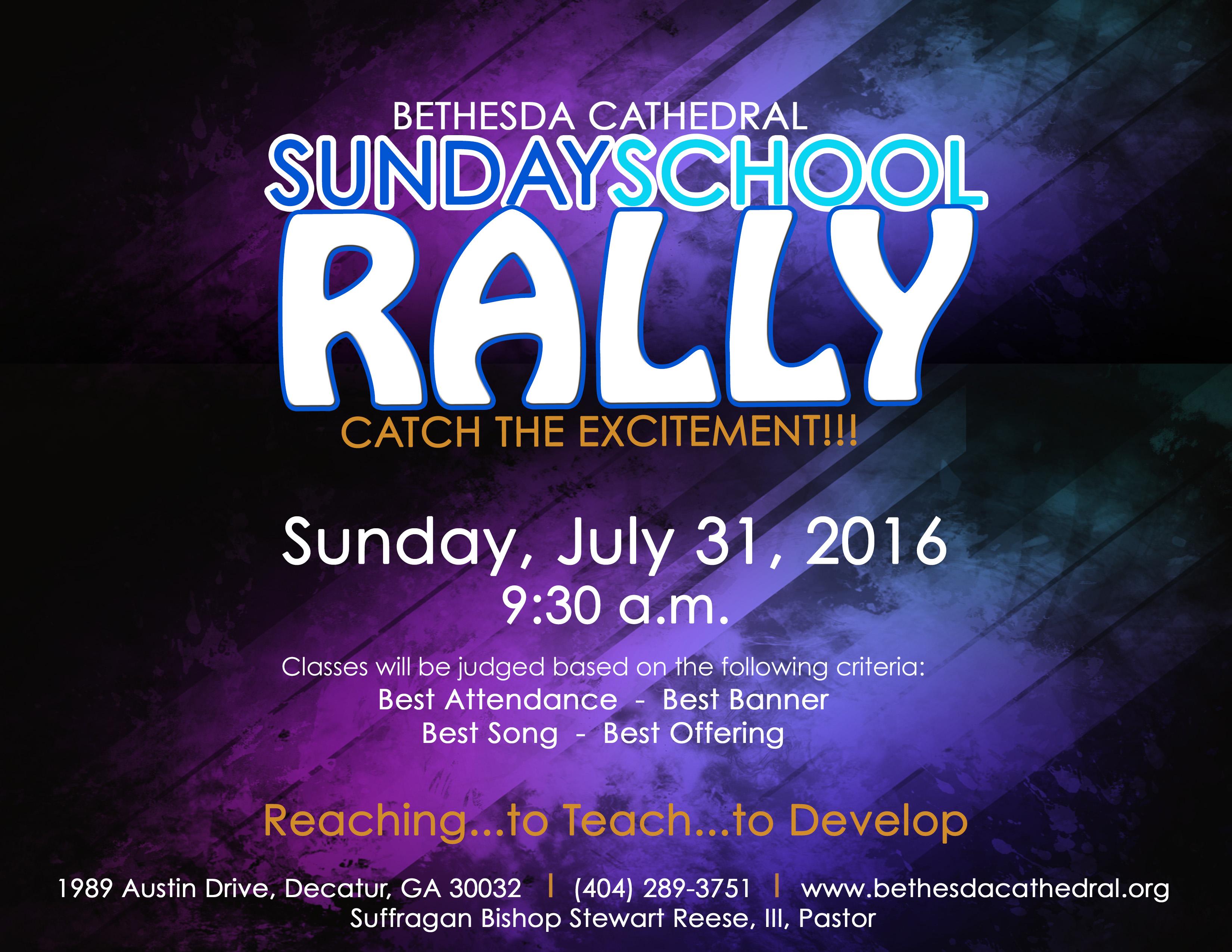 Sunday School Rally July 2016