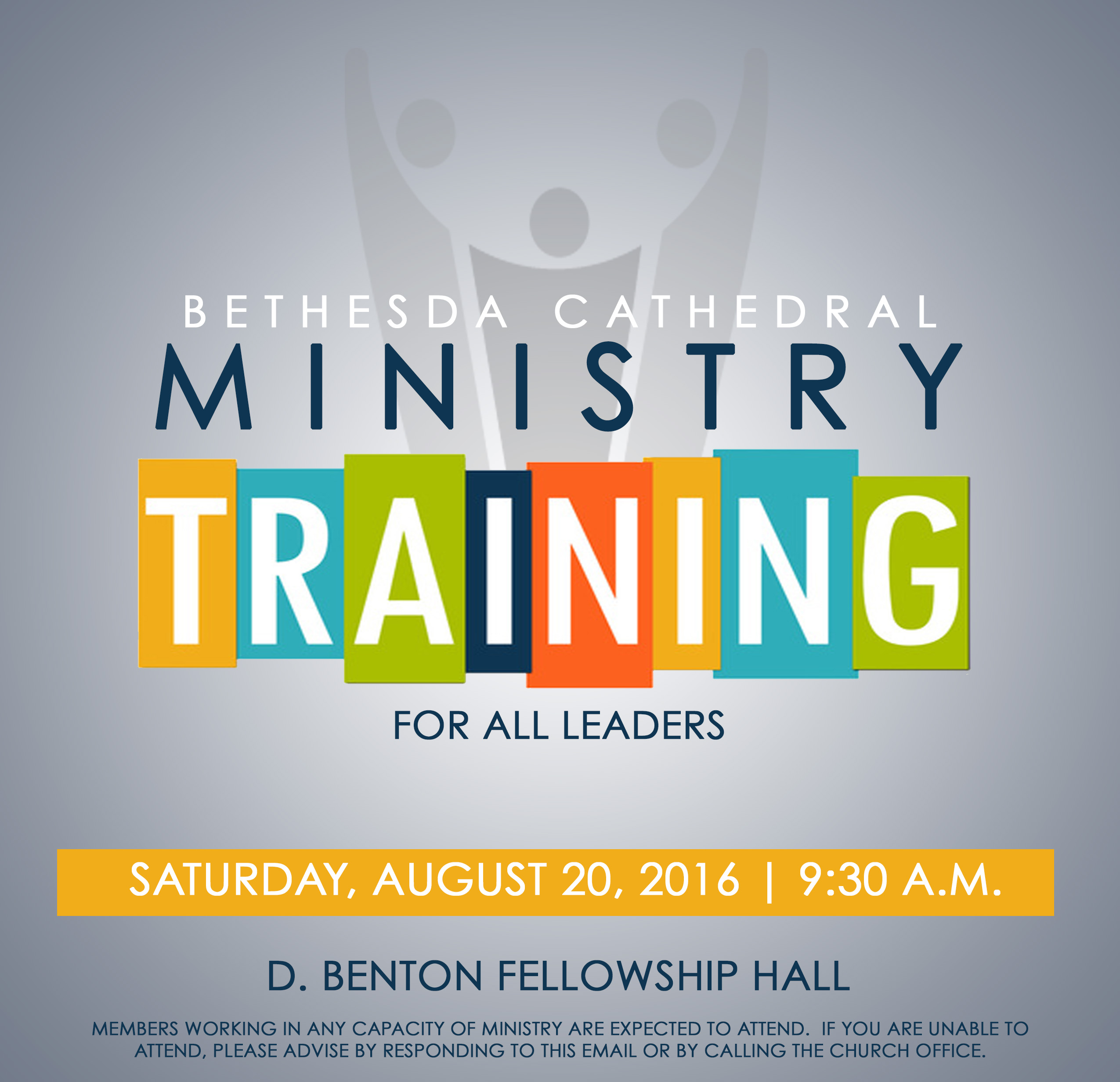 Ministry Training Aug 2016